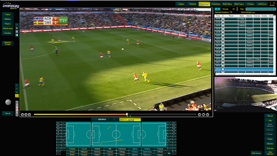 Real Time Professional Match Video Analysis Sports Analytics