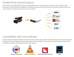 Flexible multiu channel capture